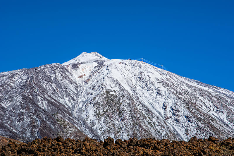 Parque nacional de Teide, Tenerife, Ilhas Canárias, Spain foto de stock