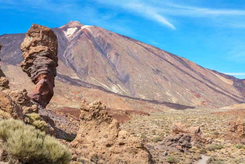 Parque nacional de Teide Tenerife, Ilhas Canárias, Spain imagens de stock