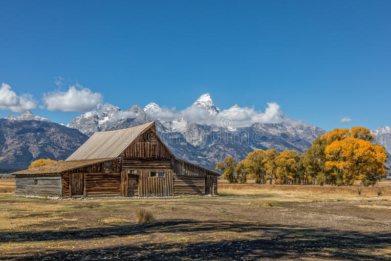 Parque nacional de Teton do celeiro de Moulton imagens de stock