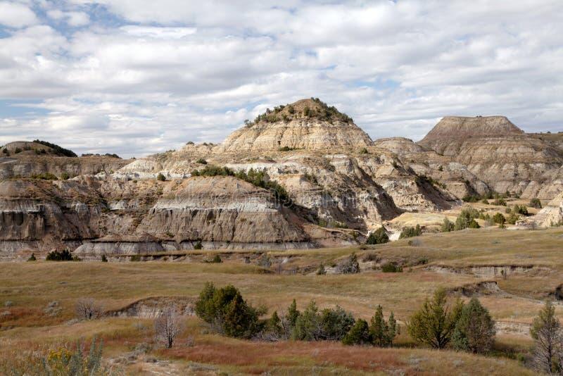 Parque nacional de Theodore Roosevelt, North Dakota fotografia de stock