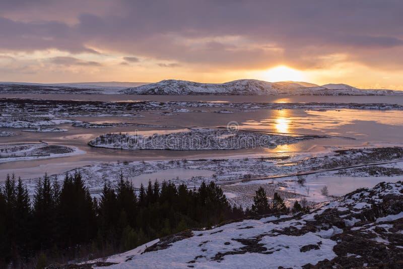 Parque nacional de Thingvellir foto de archivo libre de regalías