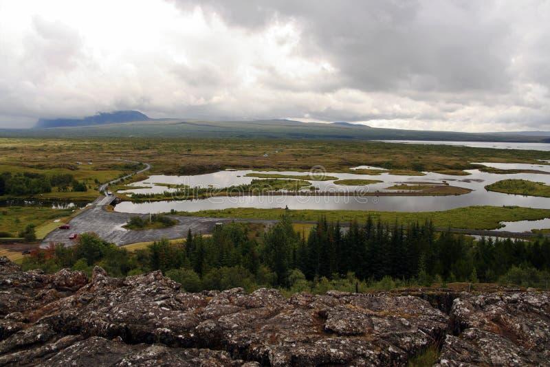 Parque nacional de Thingvellir e lago Thingvallavatn, Islândia imagens de stock royalty free