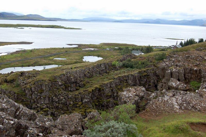Parque nacional de Thingvellir, Islândia imagens de stock