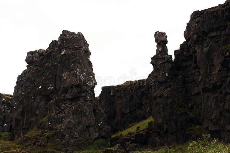 Parque nacional de Thingvellir, Islândia do sudoeste fotografia de stock