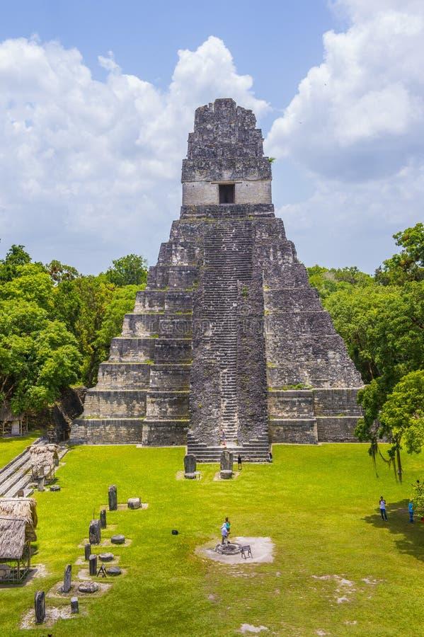 Parque nacional de Tikal fotografía de archivo libre de regalías