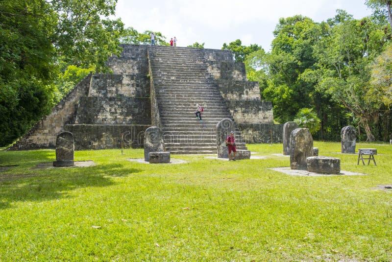 Parque nacional de Tikal foto de archivo libre de regalías