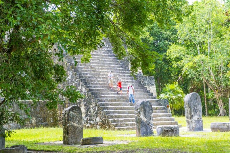 Parque nacional de Tikal imagen de archivo
