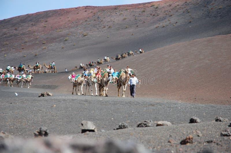 Parque nacional de Timanfaya foto de stock