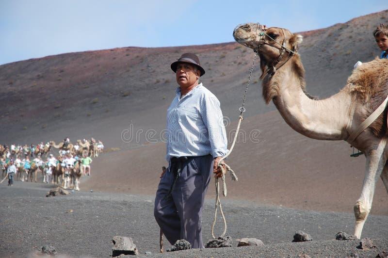 Parque nacional de Timanfaya fotografia de stock royalty free