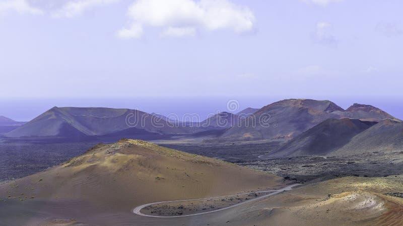 Parque nacional de Timanfaya fotos de archivo libres de regalías