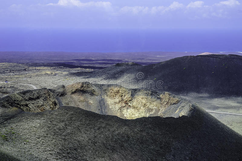 Parque nacional de Timanfaya fotografía de archivo libre de regalías