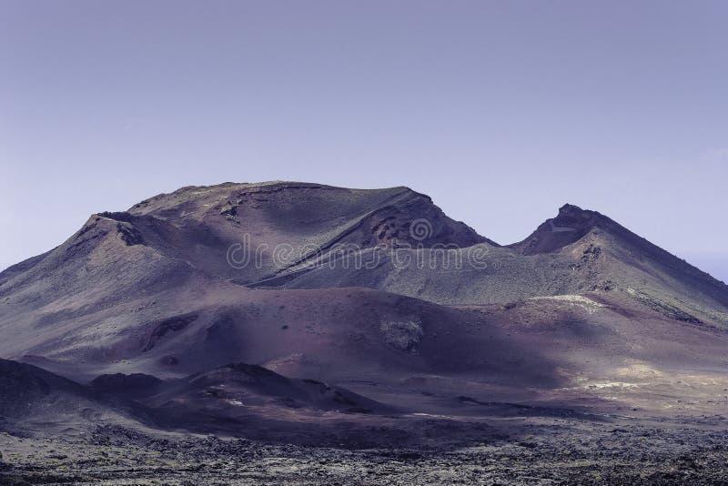 Parque nacional de Timanfaya imagenes de archivo