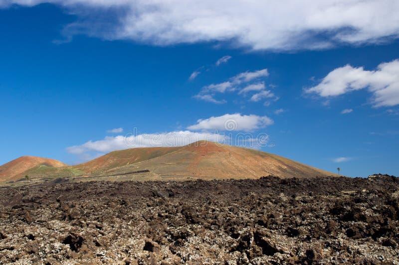 Parque nacional de Timanfaya, Lanzarote fotografía de archivo