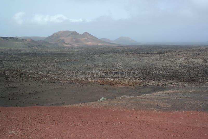 Parque nacional de Timanfaya, lanzarote, ilhas de canaria fotografia de stock royalty free
