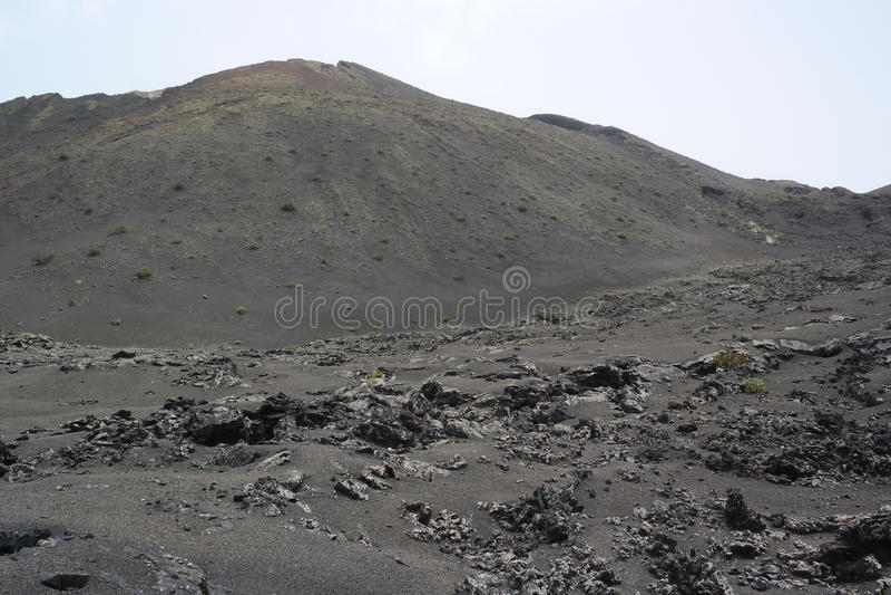 Parque nacional de Timanfaya, Lanzarote, islas de Canaria imágenes de archivo libres de regalías