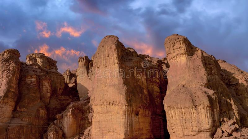 Parque nacional de Timna, situado ao norte de Eilat imagens de stock royalty free
