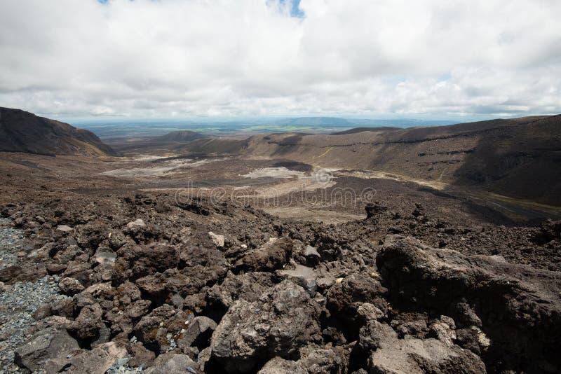 Parque nacional de Tongariro en Nueva Zelanda imágenes de archivo libres de regalías