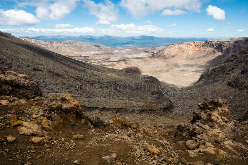 Parque nacional de Tongariro en Nueva Zelanda foto de archivo
