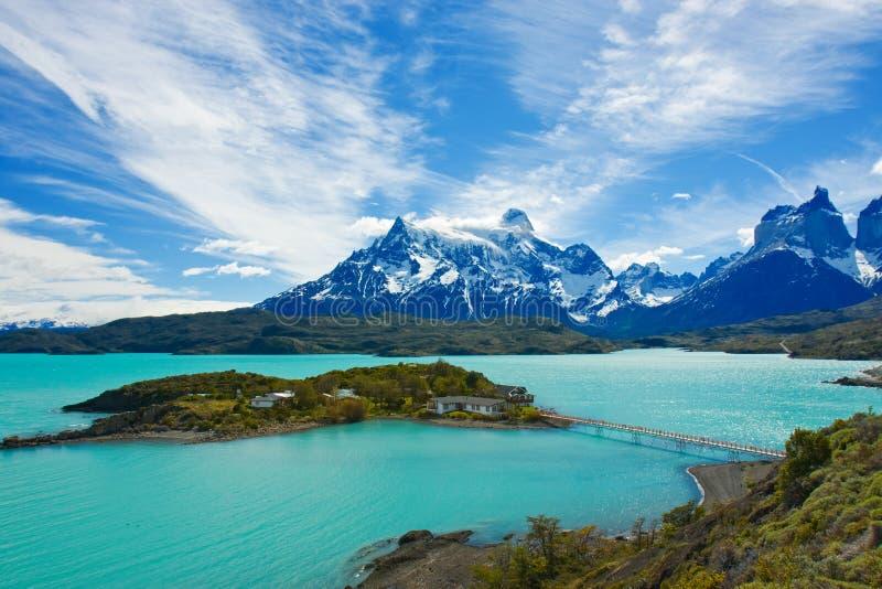 Parque nacional de Torres del Paine fotos de stock royalty free