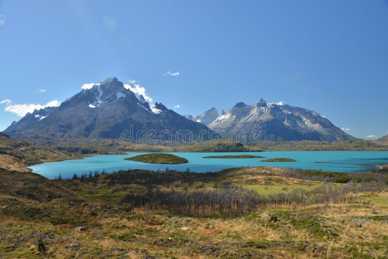 Parque nacional de Torres del Paine - lago Pehoe fotos de stock royalty free