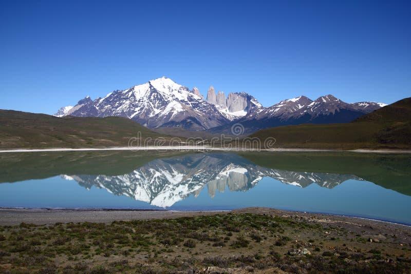 Parque nacional de Torres del Paine, Patagonia, o Chile fotos de stock