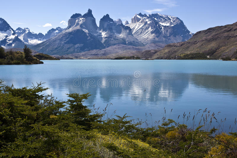Parque nacional de Torres del Paine, Patagonia, o Chile imagem de stock
