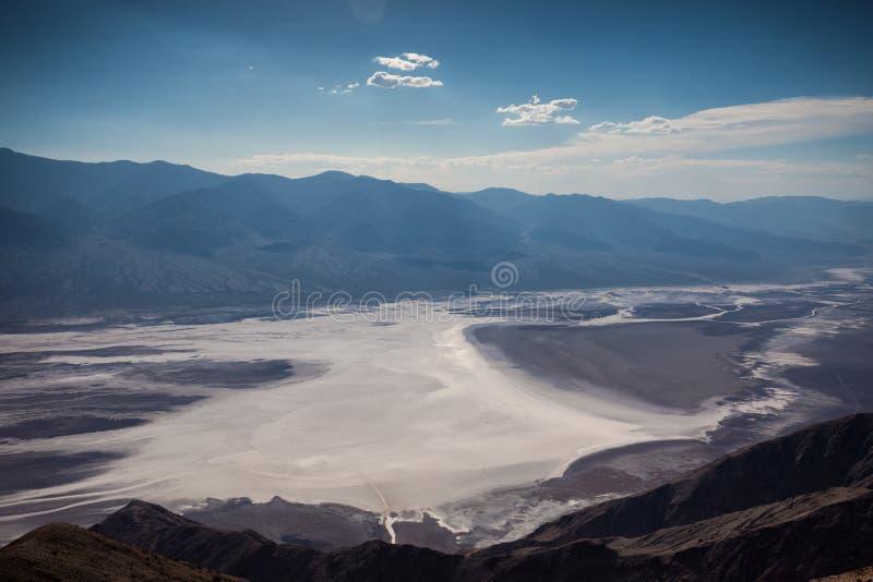 Parque nacional de Vale da Morte da opinião do ` s de Dante imagem de stock royalty free