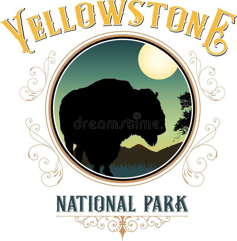 Parque nacional de Yellowstone ilustração do vetor