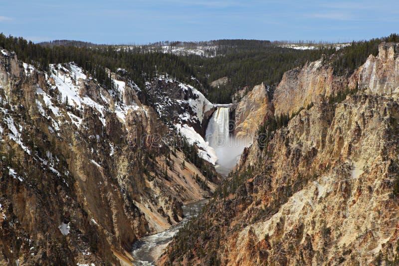 Parque nacional de Yellowstone - baje las caídas foto de archivo libre de regalías