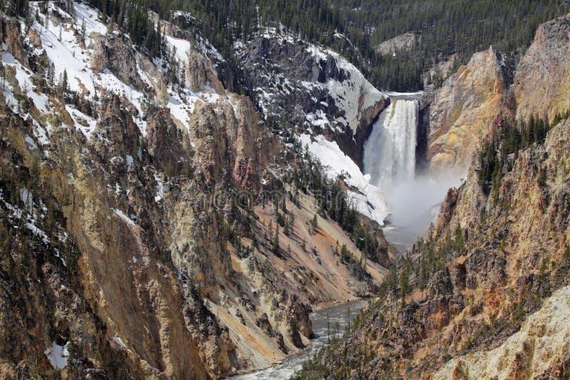 Parque nacional de Yellowstone - baje las caídas imagen de archivo libre de regalías