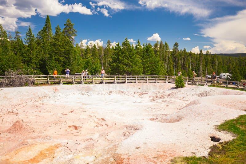 Parque nacional de Yellowstone wyoming EUA geysers imagens de stock royalty free