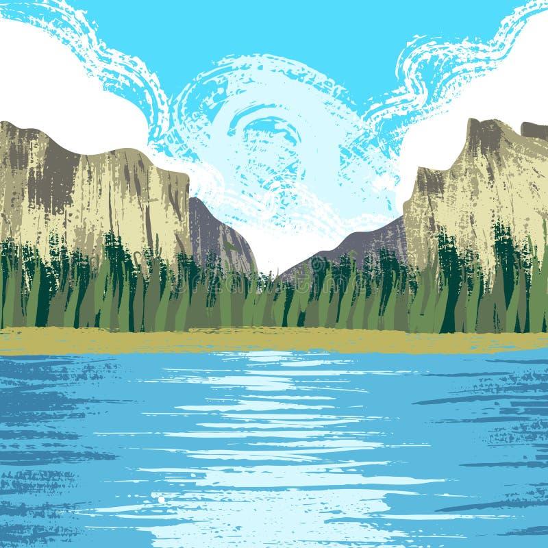 Parque nacional de Yosemite ilustração royalty free