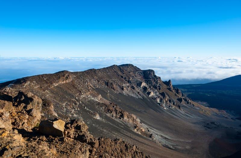 Parque nacional del  de HaleakalÄ, isla de Maui, Hawaii foto de archivo libre de regalías