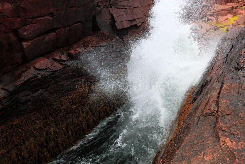 Parque nacional del Acadia del agujero del trueno imagen de archivo libre de regalías