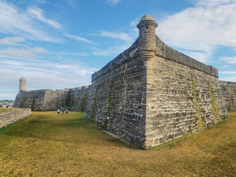 Parque Nacional del Castillo de San Marcos en Saint Augustine, Florida imagen de archivo