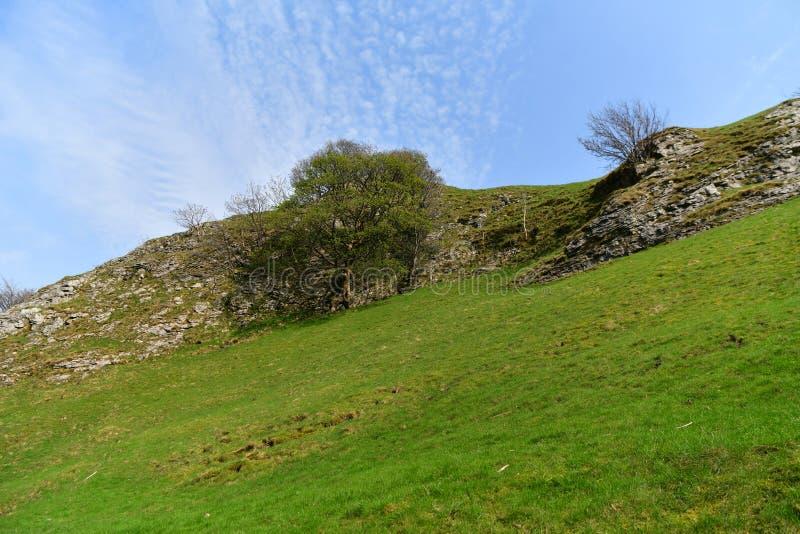 Parque nacional del distrito máximo en Reino Unido imagenes de archivo