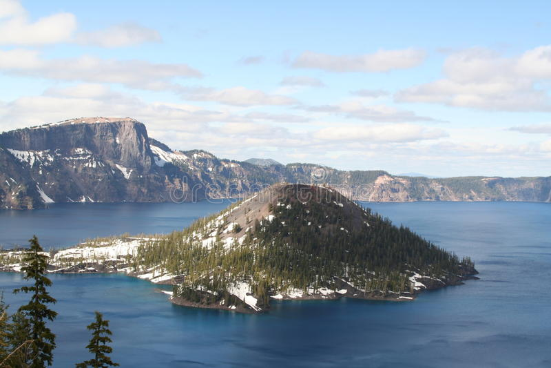 Parque nacional del lago crater foto de archivo libre de regalías