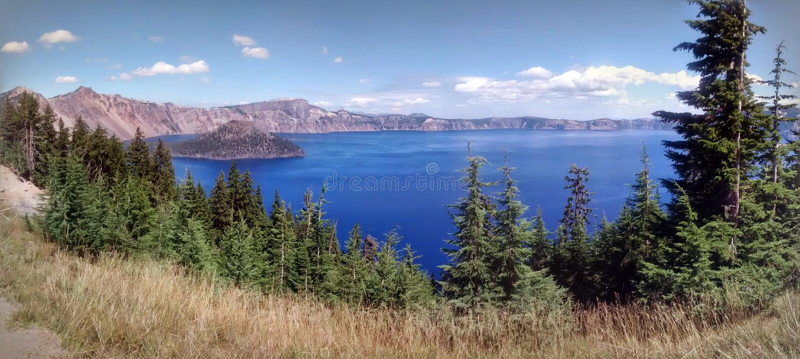 Parque nacional del lago crater imágenes de archivo libres de regalías