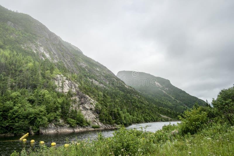 Parque nacional del río de Malbaie fotografía de archivo libre de regalías
