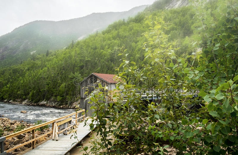 Parque nacional del río de Malbaie imagenes de archivo