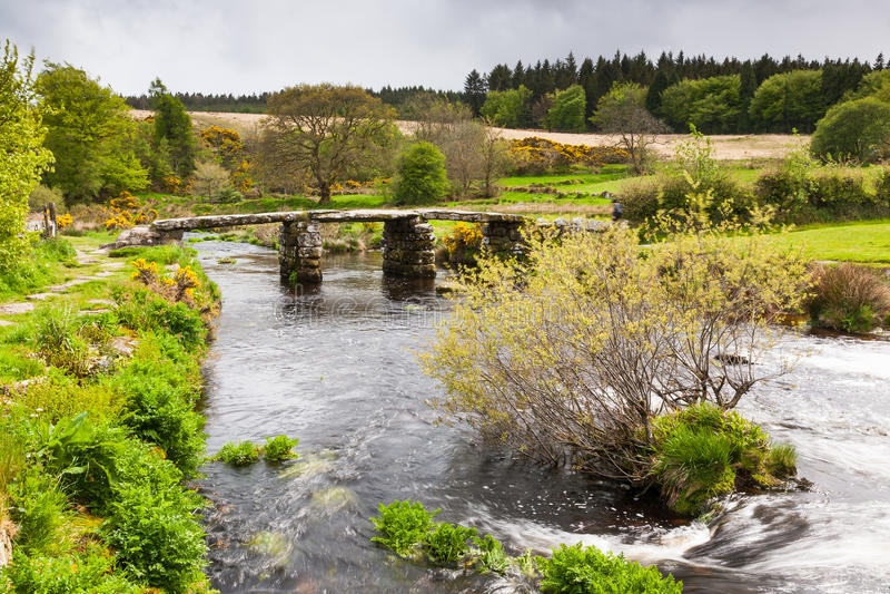 Parque nacional Devon de Postbridge Dartmoor fotos de archivo