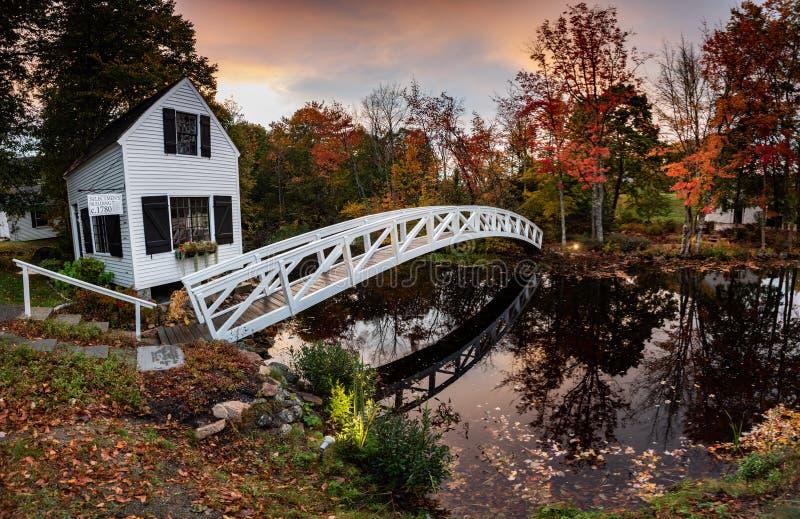 Parque nacional do Acadia da folhagem de outono no outono imagem de stock