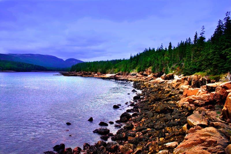 Parque nacional do Acadia, Maine fotografia de stock