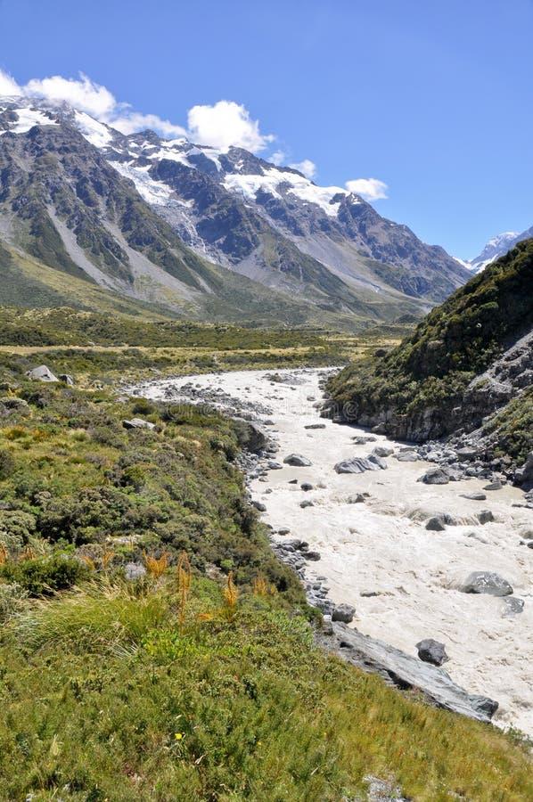 Parque nacional do cozinheiro da montagem, Nova Zelândia foto de stock royalty free