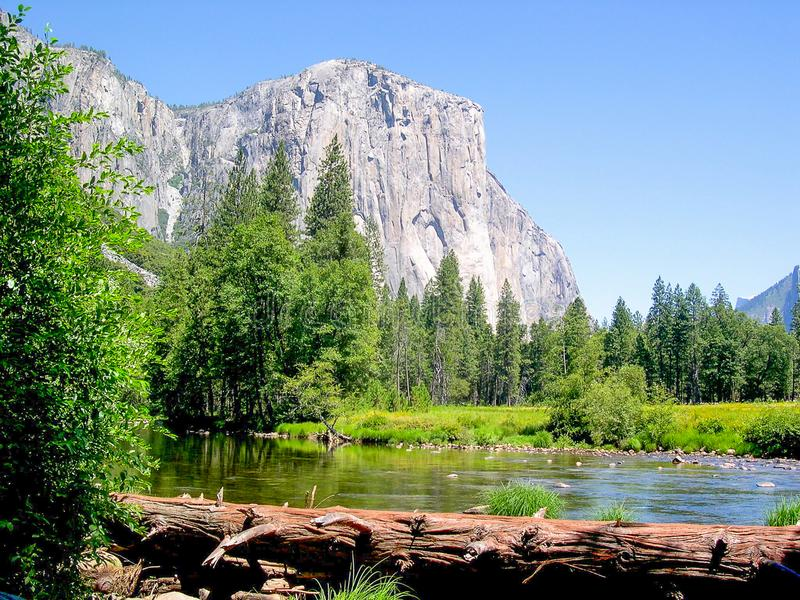 Parque nacional do EL Capitan Yosemite, Califórnia, EUA imagem de stock