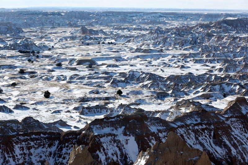 Parque nacional do ermo em South Dakota, EUA. imagens de stock