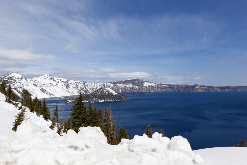 Parque nacional do lago crater foto de stock royalty free