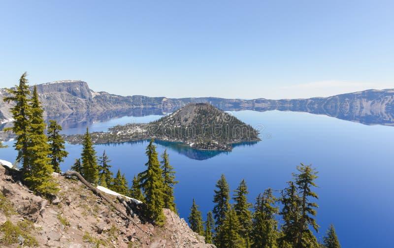 Parque nacional do lago crater, Oregon fotos de stock