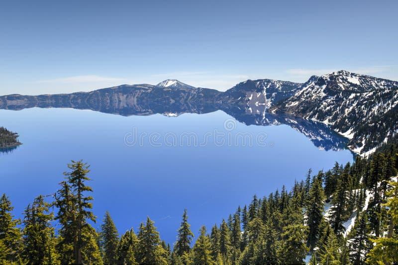 Parque nacional do lago crater, Oregon imagens de stock