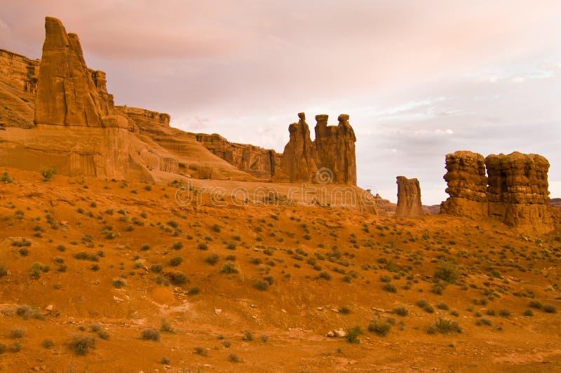 Parque nacional dos arcos imagens de stock royalty free